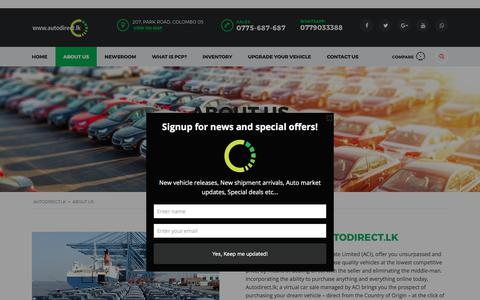 Screenshot of About Page autodirect.lk - About Us   autodirect.lk - captured June 30, 2017