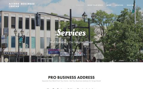 Screenshot of Services Page accessbusinesscentre.com - Services — Access Business Centre - captured May 29, 2017