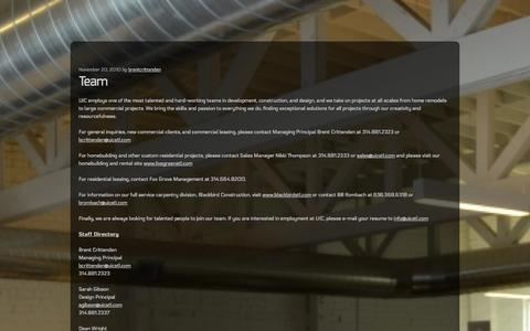 Screenshot of Team Page uicstl.com - UIC | Team - captured Oct. 7, 2014