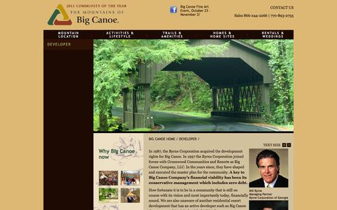 Screenshot of Developers Page bigcanoe.com - Meet the management of Big Canoe Company, LLC - captured Oct. 5, 2014