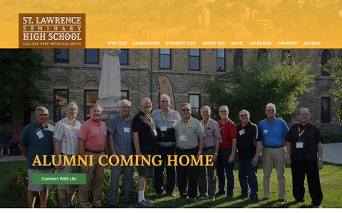 Screenshot of Home Page stlawrence.edu - St Lawrence Seminary High School - College Prep - Catholic - Mt Calvary - captured Nov. 18, 2018