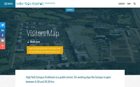 Screenshot of Maps & Directions Page hightechcampus.com - High Tech Campus Eindhoven: Visitors Map - captured April 21, 2016