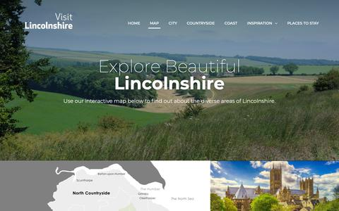 Screenshot of Maps & Directions Page visitlincolnshire.com - Map of Lincolnshire - Visit Lincolnshire - captured Nov. 7, 2018