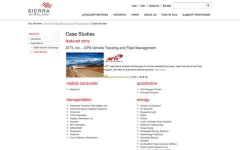 Screenshot of Case Studies Page sierrawireless.com - Sierra Wireless            - M2M Case Studies - captured Sept. 24, 2014
