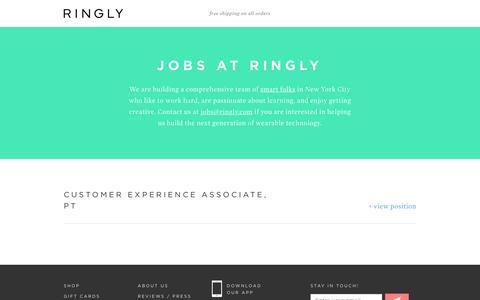 Screenshot of Jobs Page ringly.com - RINGLY | Jobs - captured May 26, 2016