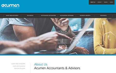 Screenshot of About Page acumen.info - Acumen Accountants | Acumen - captured Oct. 3, 2018