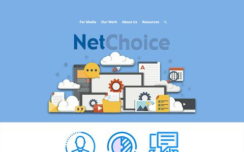 Screenshot of Home Page netchoice.org - NetChoice – Breaking Down Barriers to e-Commerce - captured Nov. 4, 2018