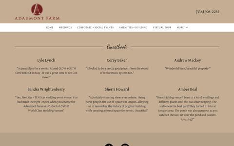 Screenshot of Testimonials Page adaumontfarm.com - Testimonials   Adaumont Farm - captured Oct. 16, 2018