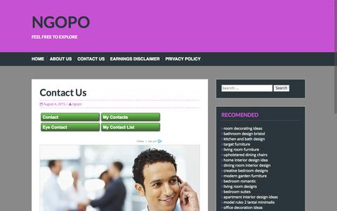 Screenshot of Contact Page ngopo.com - Contact Us | NGOPO - captured Aug. 4, 2015