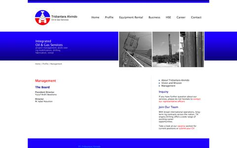 Screenshot of Team Page ta-rigs.com - Management | TA Rigs - captured Oct. 1, 2014