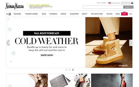 Screenshot of Home Page neimanmarcus.com - Designer Apparel, Shoes, Handbags, & Beauty | Neiman Marcus - captured Nov. 23, 2015
