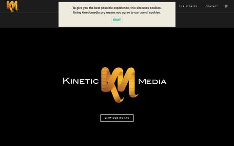 Screenshot of Home Page Contact Page Services Page kineticmedia.org - Kinetic Media | 3D Animation and Video Production - captured Sept. 28, 2018