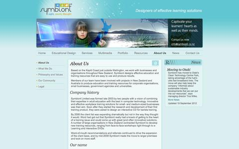Screenshot of About Page Team Page symbiont.co.nz - About Us - captured Oct. 25, 2014