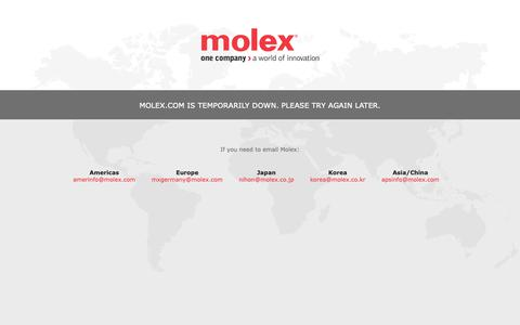 Screenshot of Home Page molex.com - Molex   Connectors, Interconnects and Cable Assemblies - captured May 19, 2019