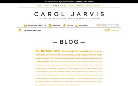 Screenshot of Blog caroljarvis.com - Blog | Carol Jarvis - captured Sept. 30, 2014