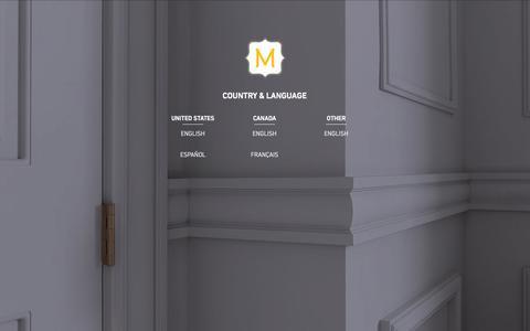 Screenshot of Home Page metrie.com - CHOOSE LANGUAGE | Metrie - captured Sept. 29, 2014