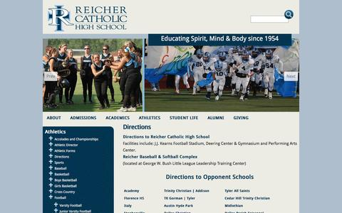 Screenshot of Maps & Directions Page reicher.org - Directions :: Reicher Catholic High School - captured Nov. 30, 2016