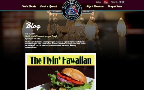 Screenshot of Blog bumpersgrill.com - Our Blog - Bumper's Grill and Bar - captured Oct. 5, 2014