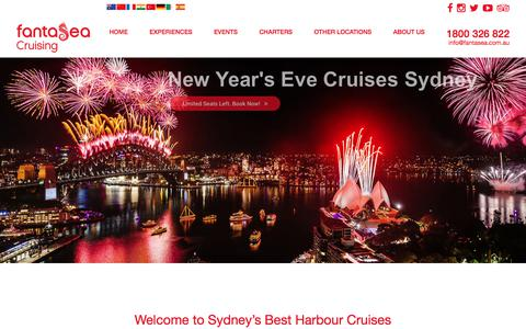 Screenshot of Home Page fantasea.com.au - Sydney Harbour Cruises, Water Taxis, Magnetic Island & Palm Beach Ferries - captured Oct. 13, 2017