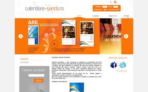 Screenshot of Home Page calendare-sands.ro - Calendare Sands - captured Oct. 7, 2015