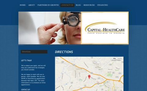 Screenshot of Maps & Directions Page capital4healthcare-llc.com - Directions to Capital4HealthCare, LLC based in Lancaster County, PA - captured Sept. 29, 2014