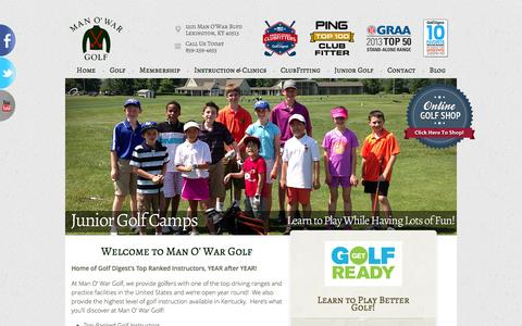 Screenshot of Home Page manowargolf.com - Man O' War Golf - Lexington, KY - captured Oct. 4, 2014