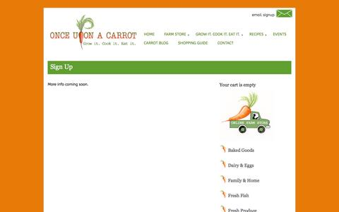 Screenshot of Signup Page onceuponacarrot.org - Sign Up » Once Upon a Carrot - captured Oct. 29, 2014