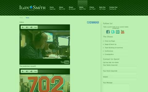 Screenshot of Press Page ilansmith.com - Media | Ilan Smith Entertainment - captured Oct. 3, 2014