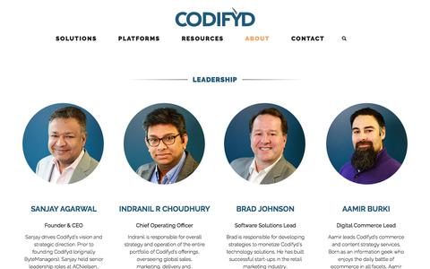 Screenshot of Team Page codifyd.com - Leadership | CODIFYD Digital Commerce & Transformation Consulting | Codifyd - captured July 28, 2017