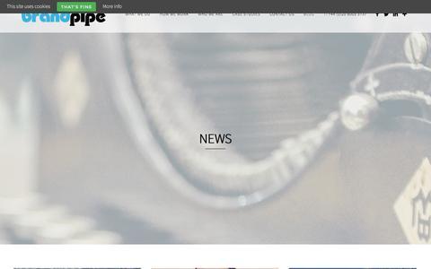 Screenshot of Press Page brandpipe.co.uk - News   BrandPipe - captured Jan. 7, 2016