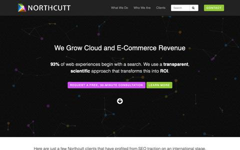 Screenshot of Home Page northcutt.com - An SEO Agency For Cloud & E-Commerce | Northcutt - captured Nov. 11, 2018