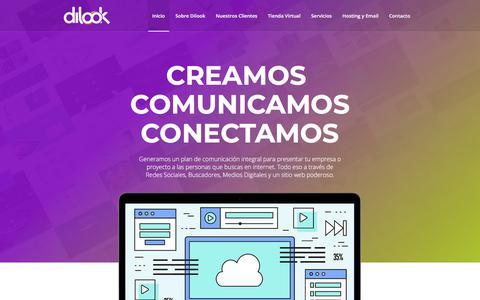Screenshot of Home Page dilookmedia.com - Dilook Media | Creamos, Comunicamos, Conectamos - captured Aug. 7, 2018