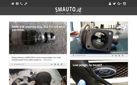 Screenshot of Blog smauto.ie - Blog - SM Auto - captured Nov. 18, 2016