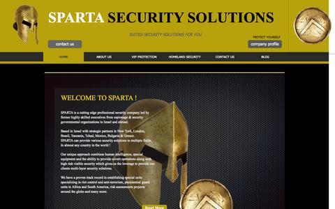 Screenshot of Home Page spartaltd.com - sparta-security - captured Oct. 3, 2014