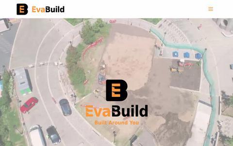 Screenshot of Home Page evabuild.co.uk - Home   Evabuild - captured Sept. 29, 2018