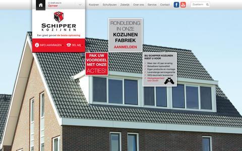 Screenshot of Home Page schipperkozijnen.nl - Kozijnen, dakkapellen, schuifpuien - kunststof of aluminium - Schipper Kozijnen - captured Dec. 21, 2015