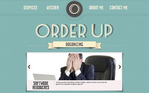Screenshot of Services Page orderuporganizing.com - Order Up Organizing - captured Oct. 25, 2014