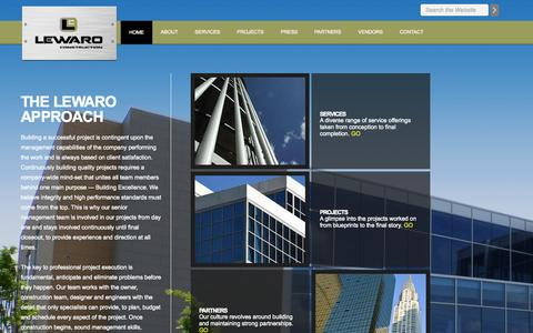 Screenshot of Home Page lewaro.com captured Oct. 1, 2014