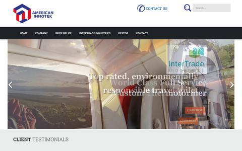Screenshot of Home Page americaninnotek.com - American Innotek - captured Oct. 8, 2017