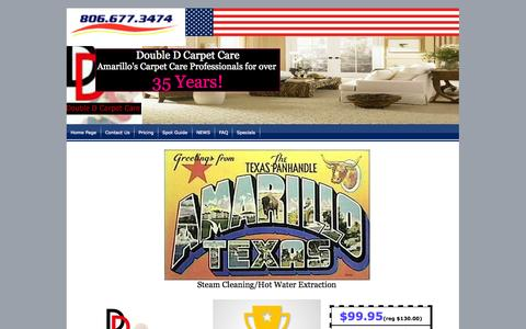 Screenshot of Home Page doubledcarpetcare.com - Carpet Cleaning Amarillo - captured Oct. 5, 2014