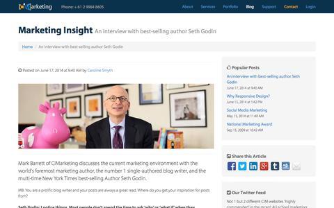Screenshot of Blog cimarketing.com.au - Marketing Insights - captured Sept. 26, 2014