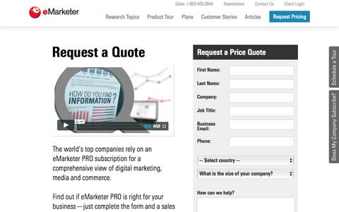 Request Limited-User Price Quote | eMarketer