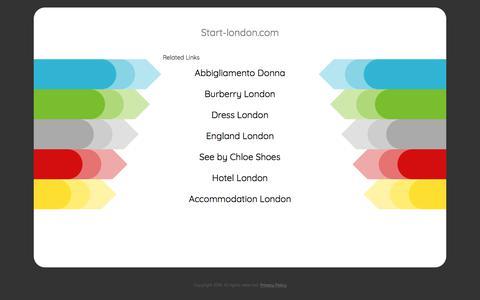 Screenshot of Home Page start-london.com - Start-london.com - captured July 13, 2018
