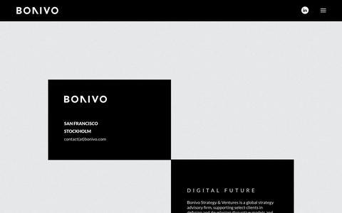 Screenshot of Home Page bonivo.com - Bonivo: Digital future - captured June 1, 2017