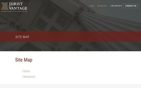 Screenshot of Site Map Page juristvantage.com - Site Map - Jurist Vantage - captured June 8, 2017