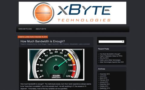 Screenshot of Blog xbyte.com - xByteIT | IT Commentary from the hardware experts - captured July 23, 2016