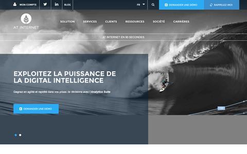 Screenshot of Home Page atinternet.com - AT Internet - Digital Intelligence avec l'Analytics Suite - captured Dec. 3, 2015