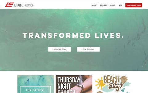 Screenshot of Home Page lifechurchmaine.org - LifeChurch Maine - captured Aug. 6, 2017
