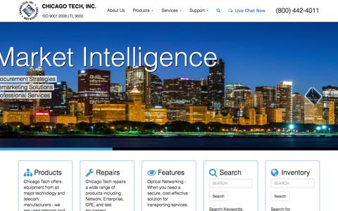 Screenshot of Home Page chicagotech.com - Chicago Tech - Telecom Equipment and IT Hardware - captured Oct. 2, 2014