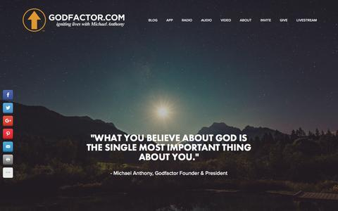 Screenshot of Home Page godfactor.com - Godfactor | Official Website - captured April 15, 2016